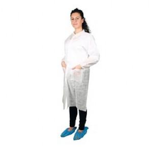 Blouse de protection en polypropylène blanche U.U
