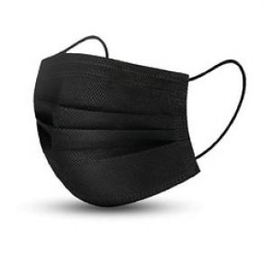 Masque à usage médical de type IIR avec élastique Noir